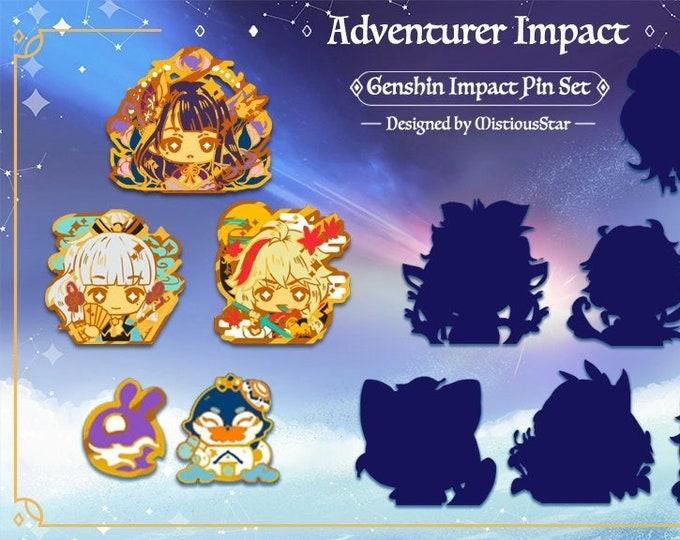 Featured listing image: PREORDER Genshin Pins Series 2 FAN MADE