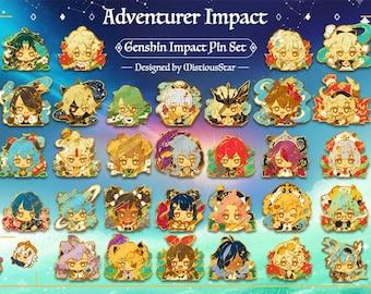 Genshin Impact Hard Enamel Pins