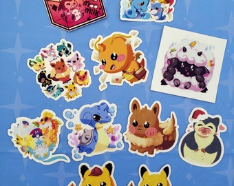 Pocket Monster Large Stickers