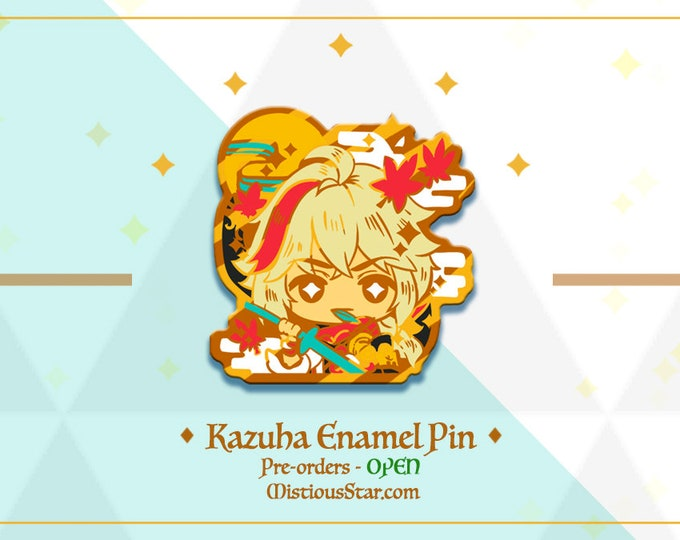 Featured listing image: PREORDER- Genshin Kazuha Pin
