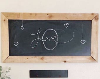 48 Inch Large Chalkboard . Chalkboard . Menu Board . Command Center Board . Farmhouse Decor . Modern Farmhouse Decor . Modern Decor .
