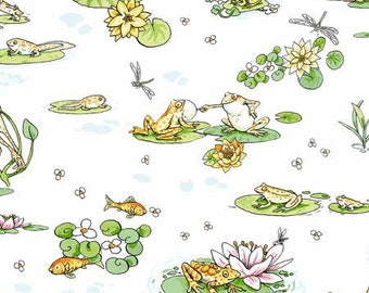 Leap Frog 10 Squares Bundle by Anita Jeram for Clothworks 42 piece ~ Layer Cake Stacker ~ Cotton Quilt Fabric ~ Free shipping