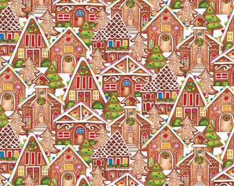Gingerbread Factory 1616-35 tan gingerbread houses by Elizabeth Medley forBlank