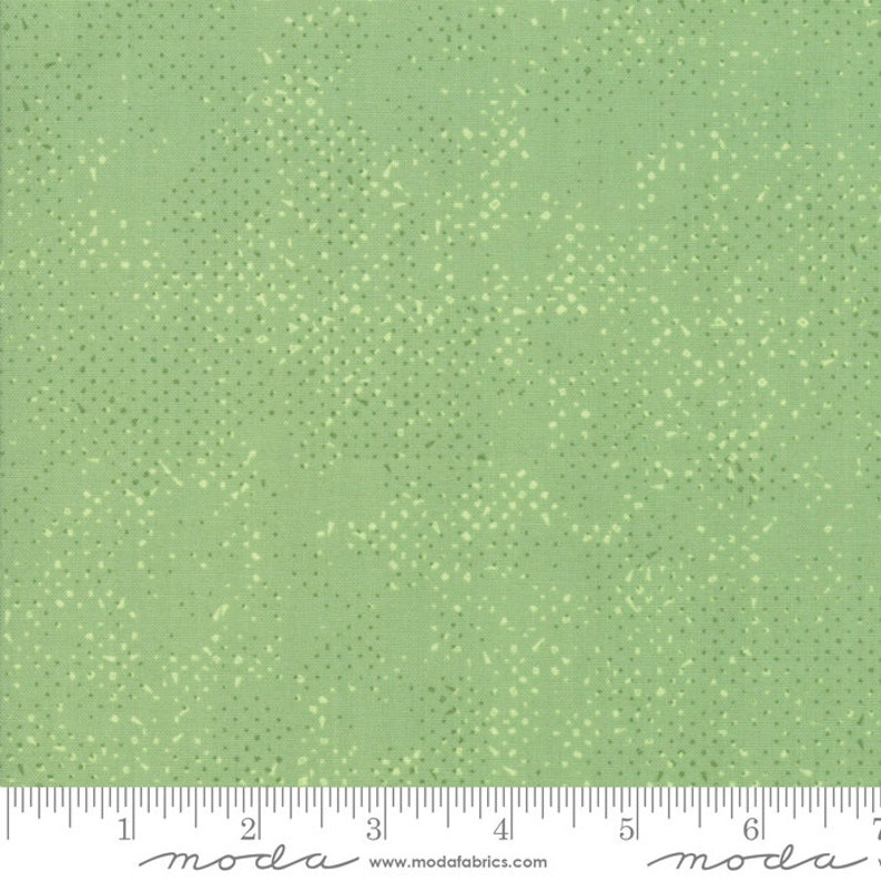 Spotted 1660-64 celadon by Zen Chic for Moda