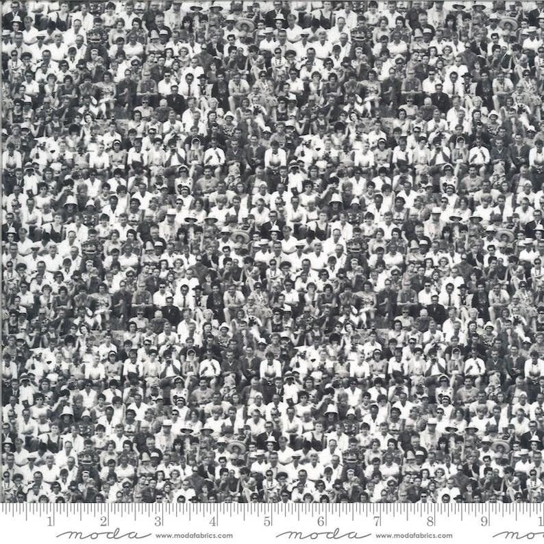 Flea Market Moxie 7364-11D black crowd by Cathe Holden for Moda
