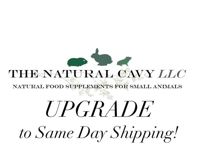 Upgrade to SAME DAY shipping!