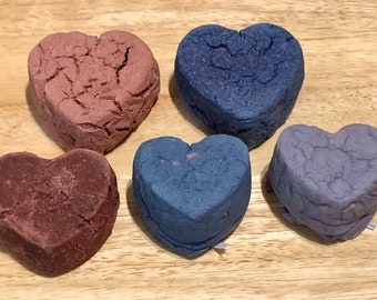 Valentine's Day Heart Gnawing Block / Variety and XL Hearts / Wears Down Teeth / Guinea Pig Treat / Rabbit Treat