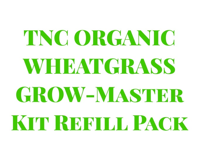 Refill Pack / Replacement Organic Wheatgrass Seeds