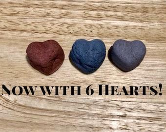 Valentine's Day Little Hearts Packs (6 Hearts) / Guinea Pig Treat / Rabbit Treat