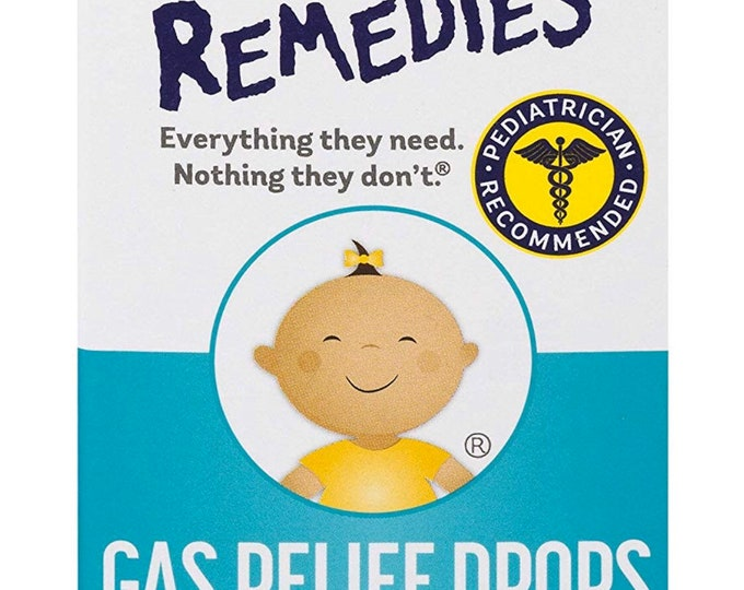 Little Remedies Gas Relief Drops | Berry Flavor | Helps w/ Bloat in Small Pets | 1 FL OZ
