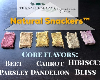 Natural Snackers- Hay Based Treats for Rabbits & Bunnies, Guinea Pig Treats, Gift for Pet Owners, The Natural Cavy