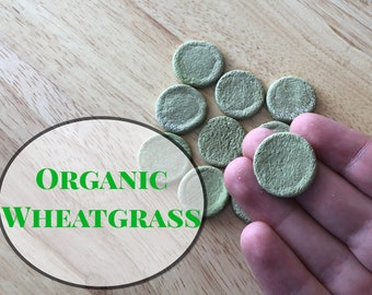 Guinea Pig Treats, Organic Wheatgrass Cookies, Treats for Rabbits & Bunnies, Gift for Pet Owners