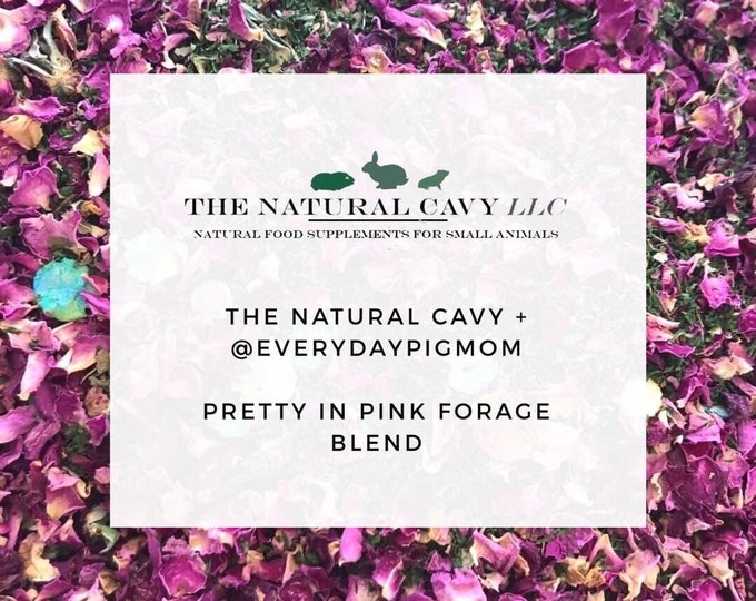 Pretty in Pink | Everydaypigmom • The Natural Cavy | Forage {Limited Edition}