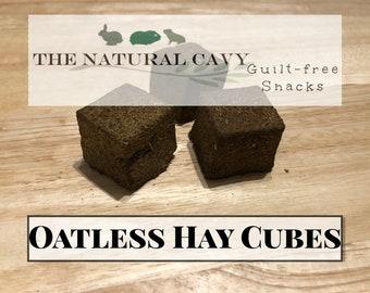 OATLESS Hay Cubes / Hay Wears Down Teeth / Guinea Pig Treat / Rabbit Treat