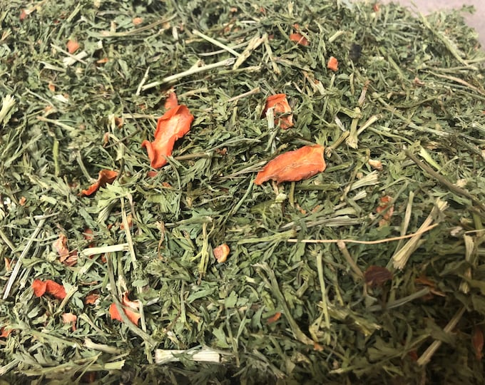 Whole Carrot Forage- JUST Carrots / Guinea Pig Hay Treats, Forage Mix, Natural Herbs and Roots, Great for Enrichment & Wellbeing of your Pet