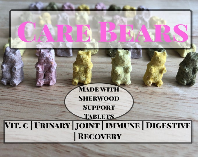 Care Bears- Unique Support Treats for Guinea Pigs, Rabbits, and other Small Animals