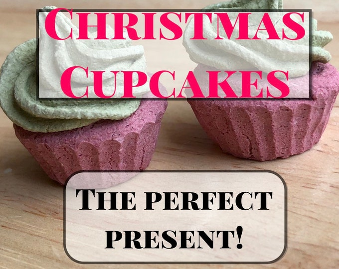 Christmas Cupcakes- Beet and Wheatgrass Christmas Present for Guinea Pigs and Rabbits