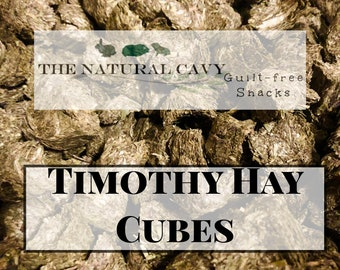 Timothy Hay Cubes - a Guilt-Free and Oat-Free Snack / Hay Wears Down Teeth / Guinea Pig Treat / Rabbit Treat