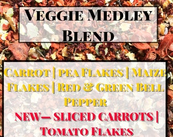 Veggie Medley Blend / Healthy Treats for Guinea Pigs and Bunny Rabbits