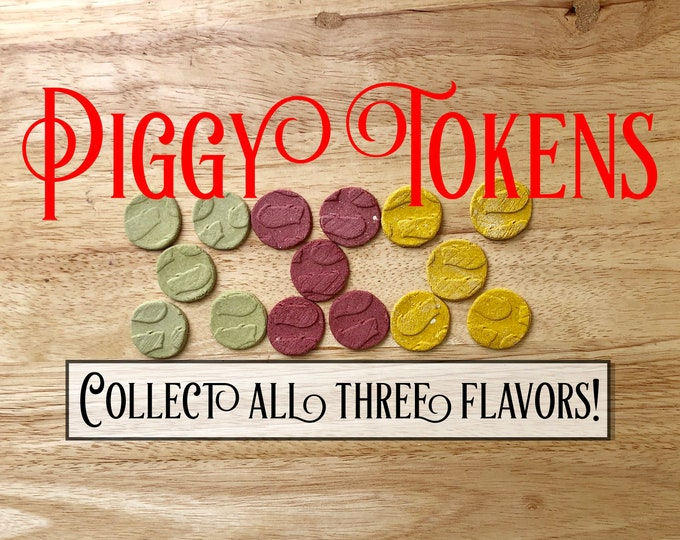 Piggy Tokens- Engraved Guinea Pig Cookies, Healthy Treat for Rabbits, Guinea Pig Snack
