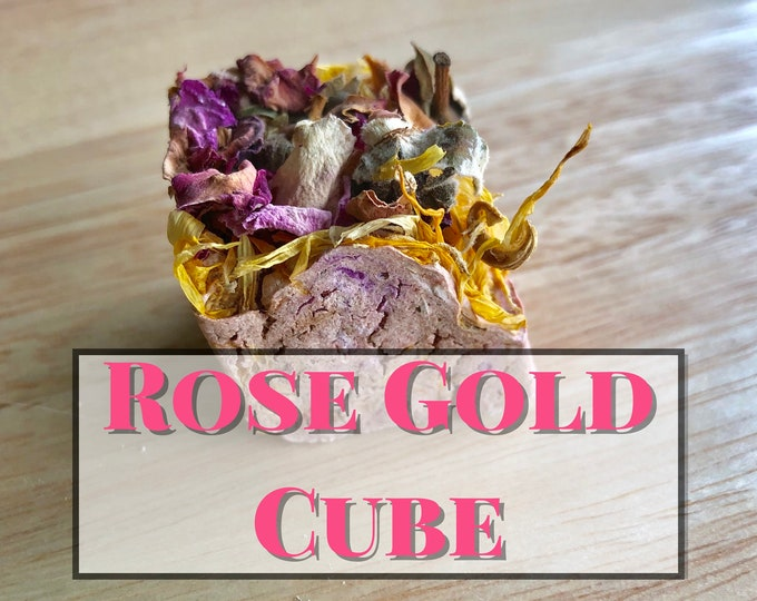 Rose Gold Cube / Wears Down Teeth / Guinea Pig Treat / Rabbit Treat