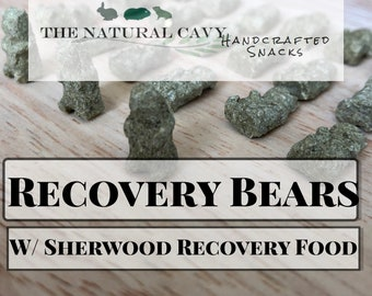 Recovery Bears- Unique Appetite Restoral and Recovery Treats for Guinea Pigs, Rabbits, and other Small Animals