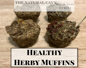 Healthy Herby Muffins / Oat-Free Snacks for Guinea Pigs / Bunny Rabbits Treats