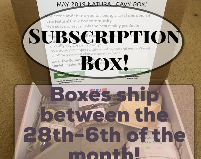 Rabbit/Guinea Pig Subscription Box | TheNaturalCavy Subscription Box!