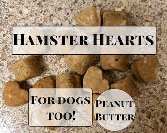 Hamster Hearts / Peanut Butter Treats for Hamsters and Dogs