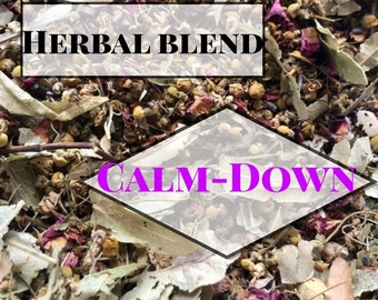 Calm-Down Herbal Blend / Anxiety reducing Herbal Blend / Hay Topper
