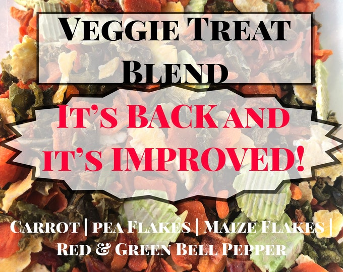 Veggie Treat Blend / It's Back and it's Improved! / Healthy Treats for Guinea Pigs and Bunny Rabbits