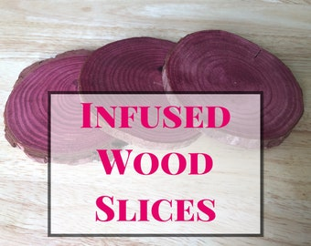 Infused Wood Slices - Naturally Flavored Chew for Guinea Pigs and Rabbits