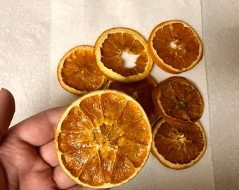 Organic Dried Orange Slices / Healthy Treats for Guinea Pigs and Bunny Rabbits