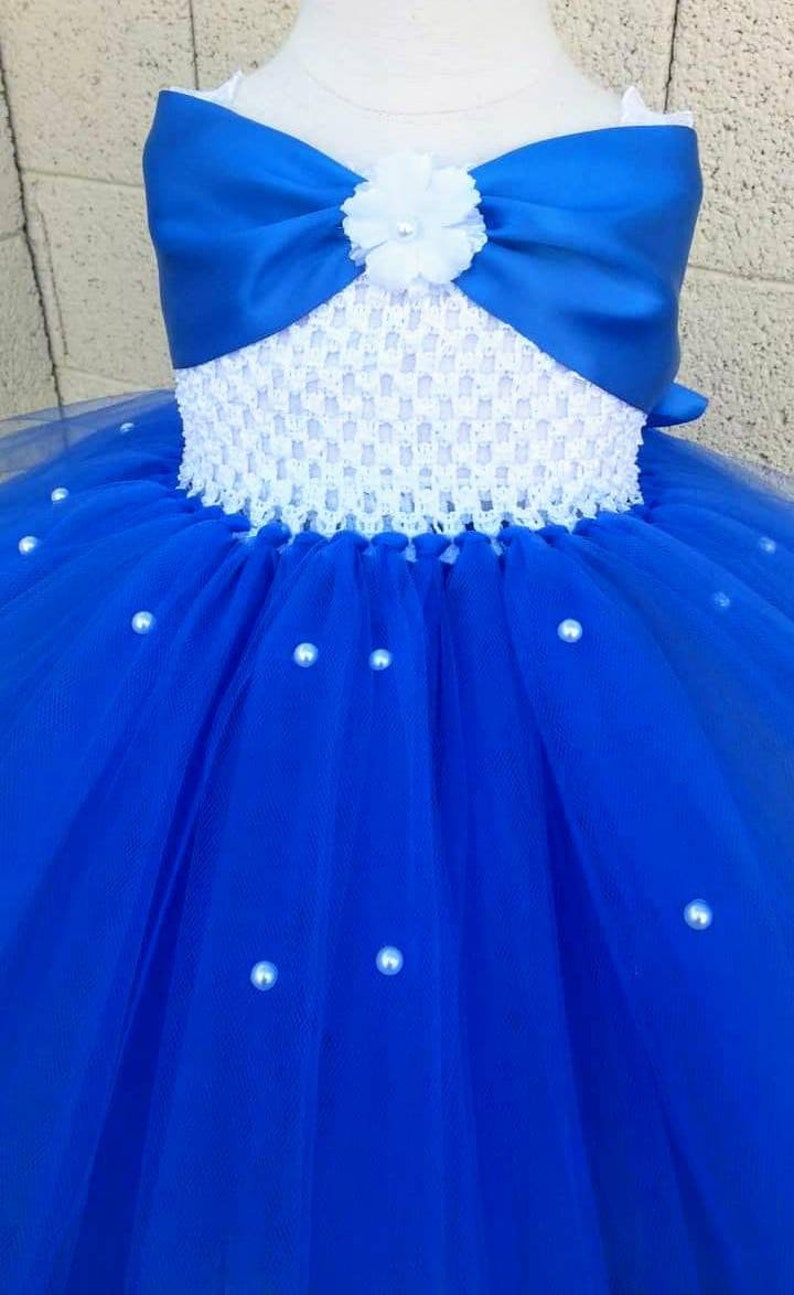 251650cf6cb Royal Blue Horizon Satin with White Flower girl basket and .