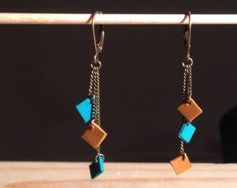 Zélie - leather earrings