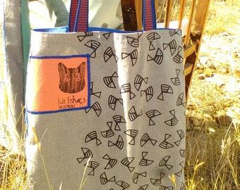 Tote summer colors bag,long straps, καλοκαιρινη τσαντα tote απο καραβοπανο με εσωτερικη τσεπη .