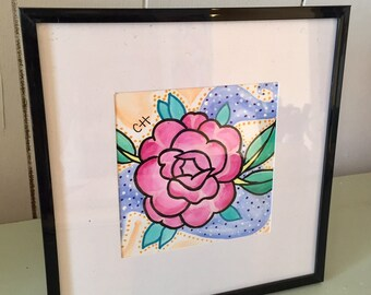 Pretty in Pink - Flower Watercolor Painting (Original)