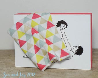 """Under the quilt """"Look"""" - drawing flirty look confusing and sensual moment, accessory and sharing of fun."""