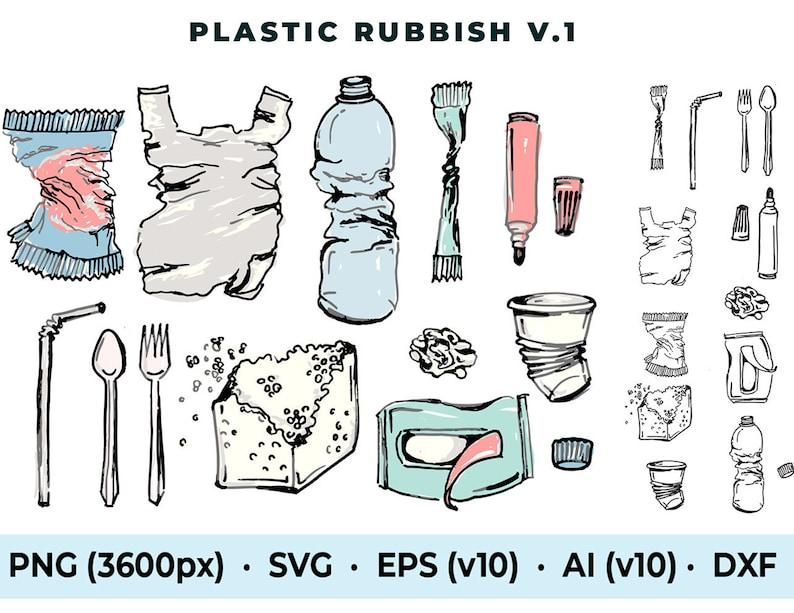 Commercial use plastic rubbish trash garbage waste dump junk image 0