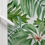Jungle Leaves roller shades, window and solar custom blinds shades photo custom printed pattern | blackout or solar screen fabric R#6