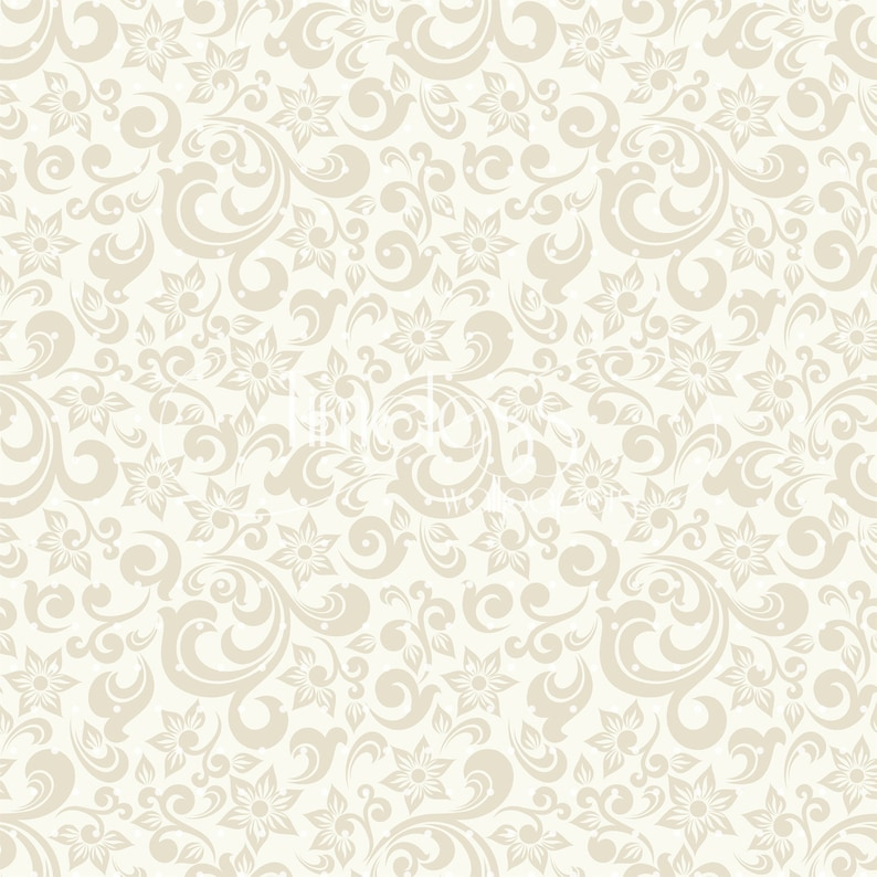 Light beige baroque style removable wallpaper yellow and gray wall mural repositionable #135