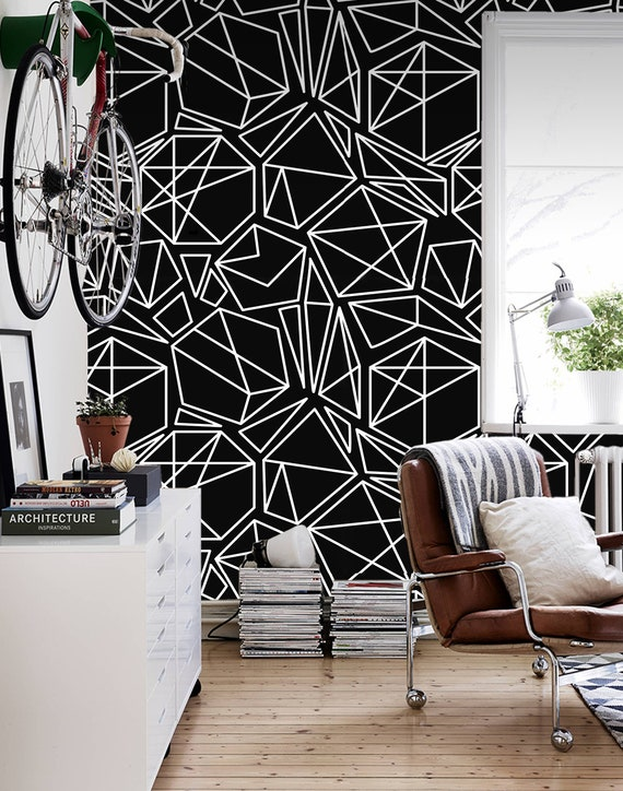 Dented hexagons removable wallpaper white wall mural peel and stick #406