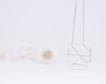 Silver 925 dreamcatcher pendant / Dreamcatcher with chain 925 / Elegant Minimalist pendant with Chain