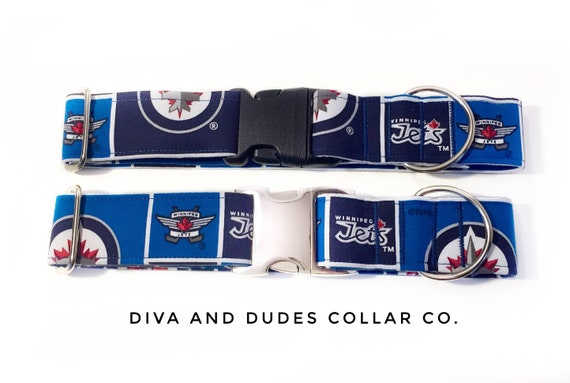 new product e7812 f72f1 Dog Collar, Winnipeg Jets Dog Collar, jets collar, NHL Collar, winnipeg,  designer dog collar, winnipeg jets, Hockey Collar, #200