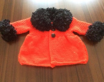 Handmade 0-18 Months Baby Girl Sweater Jacket