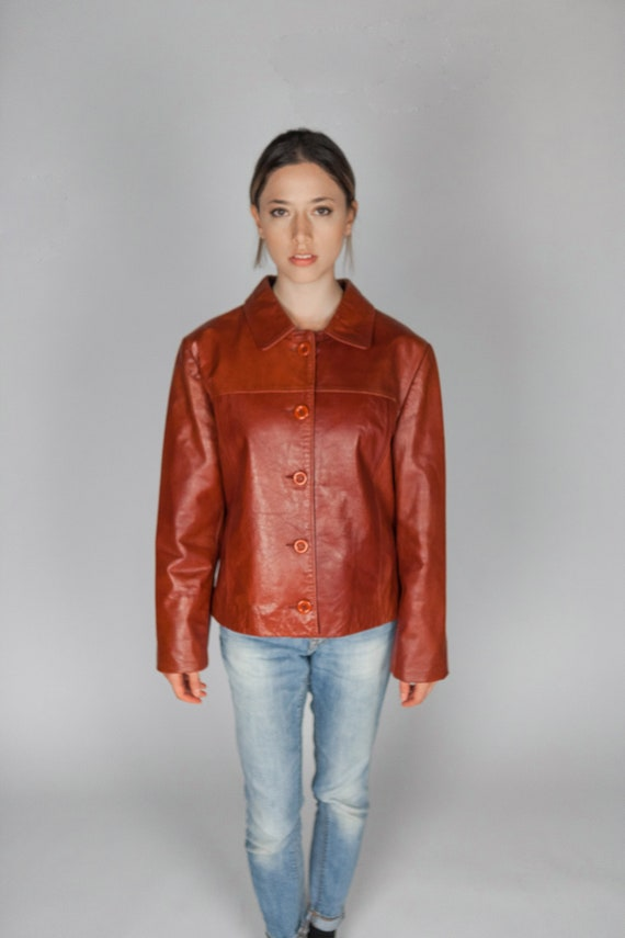 Gucci Brown Leather Jacket