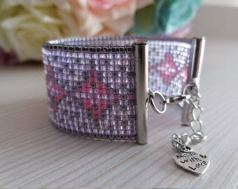 Beautiful loom beaded bracelet, unique, special