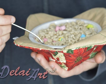 Double thermal layer! Bowl Cozy, Bowl Holder, pot holder.