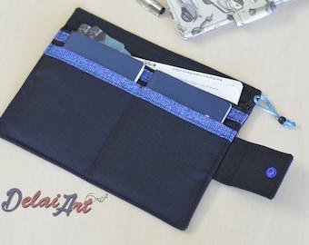 2 Passports holder and huge zippered pocket | passports wallet | passport bag