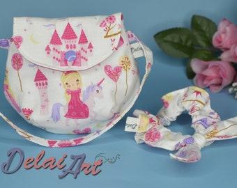 Kids hand bag set, girl bag, scrunchie, scrunchie set, bag set, child bag, clutch